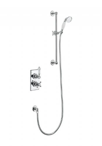 Burlington Trent Concealed Thermostatic Traditional Shower, Slide Rail & Handset - Various Styles